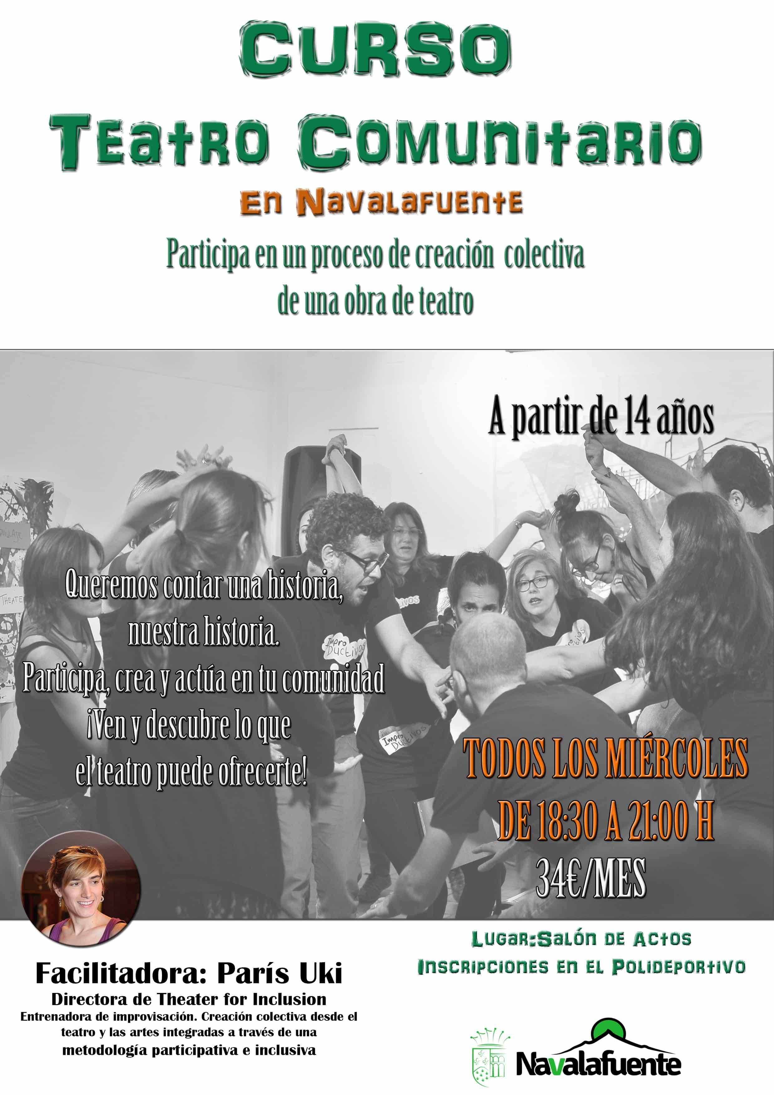 Cartel de Teatro Comunitario en Navalafuente 2018-2019